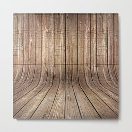 Realistic wood background Metal Print