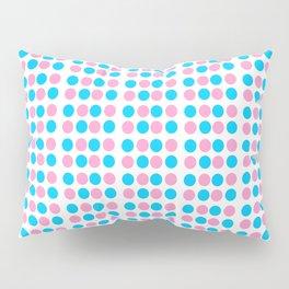 pink and blue polka dot-polka dot,pattern,dot,polka,circle,disc,point,abstract,minimalism Pillow Sham