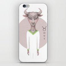 taurus astro portrait iPhone Skin