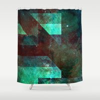 tits Shower Curtains featuring Emerald Nebulæ  by Aaron Carberry