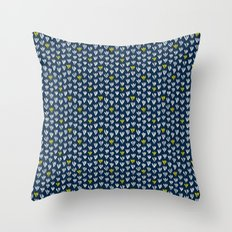 Pattern in blue and yellow Throw Pillow