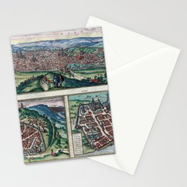 Nimes old vintage map Stationery Cards