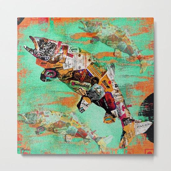 FISH AND BOURBON Metal Print