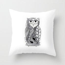Zen Owl Throw Pillow