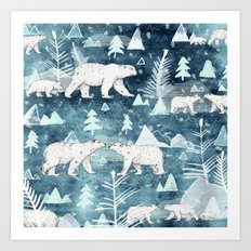 Ice Bears Art Print