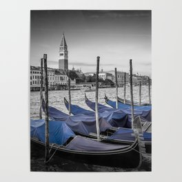 VENICE Grand Canal and St Mark's Campanile Poster
