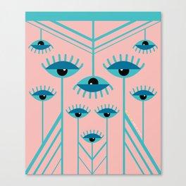 Unamused Eyes - Art Deco Canvas Print