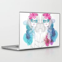 glasses Laptop & iPad Skins featuring Glasses by Camis Gray