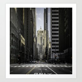 The Financial District of Chicago Art Print