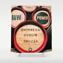Guinness Barrels Shower Curtain