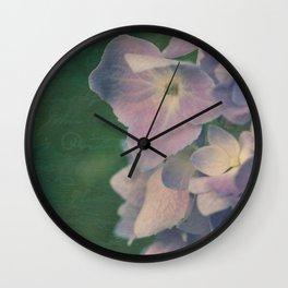 Memories: Hydrangea Wall Clock