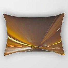 Traffic in warp speed Rectangular Pillow