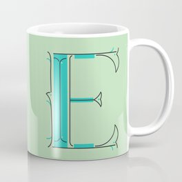 Drop Cap E - decorative letter - typography - monogram - capital Coffee Mug