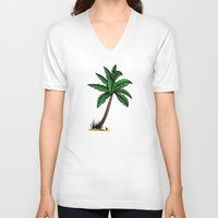 palm tree V-neck T-shirts featuring palm tree by Li-Bro