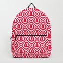 Red/Pink & White Geometric Circle Pattern by nicnak85