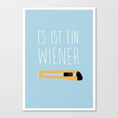 The Wiener Schnitzel Fail Canvas Print