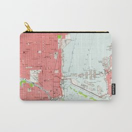 Vintage Map of Miami Florida (1950) 2 Carry-All Pouch
