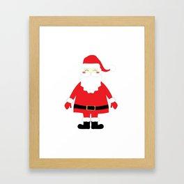 Happy Santa Framed Art Print