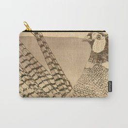 Ring-necked Pheasant At Prairie Sunset Carry-All Pouch