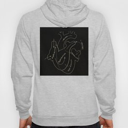 Black heart Hoody