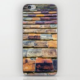 traditional vintage clay tiles – vernacular architectural building materials iPhone Skin