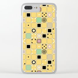 Geometrical abstract pattern 2 Clear iPhone Case