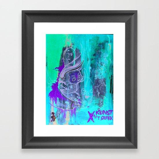Art Is Yoghurt / Kunst ist Quark Framed Art Print