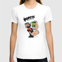 popeye T-shirts featuring Popeye The Hipster by Biagio Black