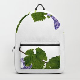 Watercolor grape vine Backpack