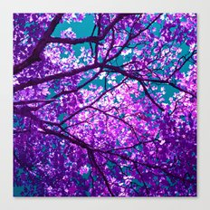 purple tree II Canvas Print