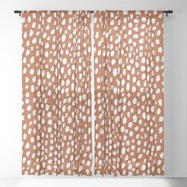 Burnt Orange Spots (white/burnt orange) Sheer Curtain