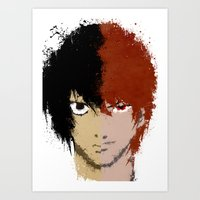 death note Art Prints featuring Death Note by Divya Tak