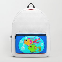 Two Fish in a Fish Bowl Backpack