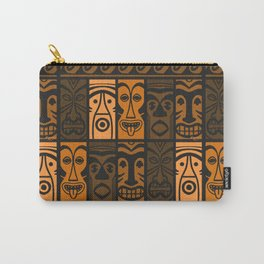 Sunset Orange Tikis! Carry-All Pouch