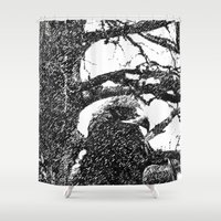 hawk Shower Curtains featuring Hawk by Anand Brai