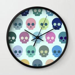 Colorful Skull Cute Pattern Wall Clock
