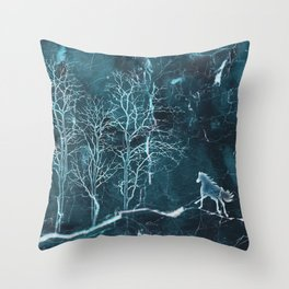 Marble Scenery Throw Pillow