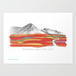 Mountain Landscape Contemporary Art, Mountain drawing, Modern Art, nature , Abstract Art, Mountains Art Print
