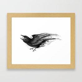 Splatter Crow Framed Art Print