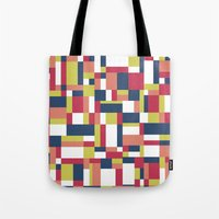 matisse Tote Bags featuring Map Matisse #1 by Project M
