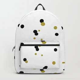 Gold and black dots pattern Backpack