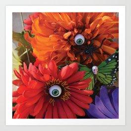 Garden of Oculary Eye Flowers Art Print