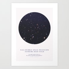 Hubble Extreme Deep Field Galaxies Art Print