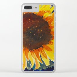 Here Comes the Sun-Flower Clear iPhone Case