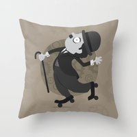 chaplin Throw Pillows featuring Chaplin by GARABATOS
