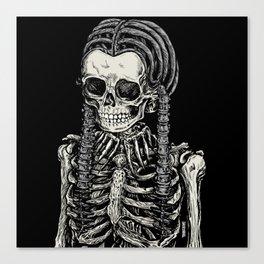 Wednesday Skeleton Canvas Print