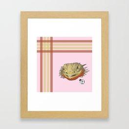 Bearded Dragon Plaid Framed Art Print