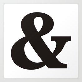 Black Ampersand sign Art Print