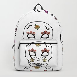 Sugar Skull Watercolor Backpack
