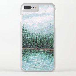 Trillium Lake, Oregon Clear iPhone Case